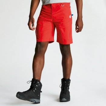 Men's Disport Lightweight Multi Pocket Shorts Fiery Red
