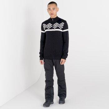 Men's Outgoing Half Zip Sweater Black