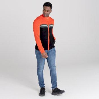Men's Dutiful Full Zip Sweater  Amber Glow Black