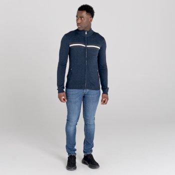 Men's Dutiful Full Zip Sweater  Nightfall Navy Marl