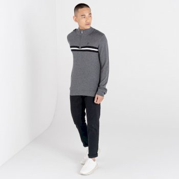 Men's Dutiful Half Zip Sweater Charcoal Marl