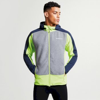 Men s Creed Softshell Hybrid Jacket Lime Outerspace Blue Ash Grey Marl 28f603150
