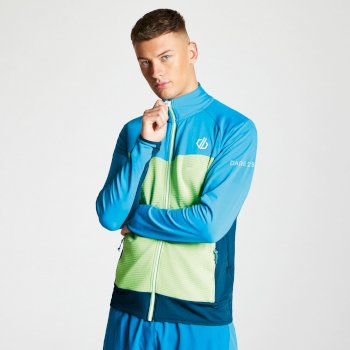 Dare 2b - Men's Riform Lightweight Core Stretch Midlayer Jasmine Green Atlantic Blue