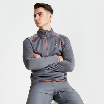 Dare 2b - Men's Fuse Up Half Zip Core Stretch Midlayer Aluminium Grey