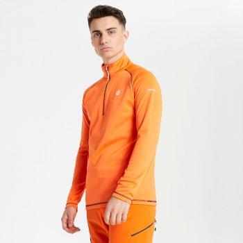 Pomarańczow męska zapinana pod szyją bluza termiczna Fuse Up
