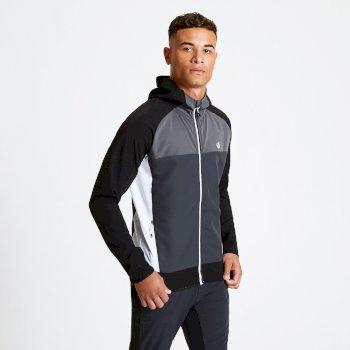 Dare 2b - Men's Aptile Hooded Softshell Jacket Ebony Grey Black