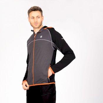 Dare 2b - Men's Ratified II Full Zip Hooded Core Stretch Midlayer Ebony Grey Black