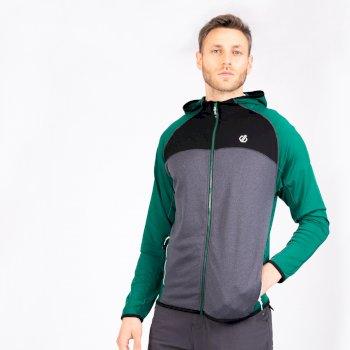 Dare 2b - Men's Ratified II Full Zip Hooded Core Stretch Midlayer Ultramarine Green Ebony Grey