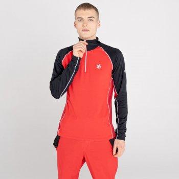 Męska bluza termoaktywna Dare2B Interfused II czarna-czerwona