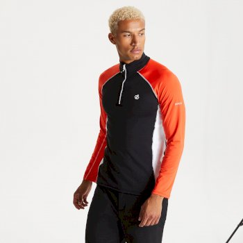 Dare 2b - Men's Interfused II Half Zip Lightweight Core Stretch Midlayer Black Trail Blaze