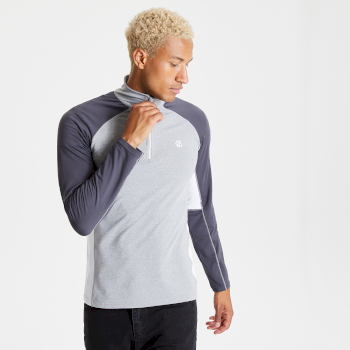 Dare 2b - Men's Interfused II Half Zip Lightweight Core Stretch Midlayer Ash Ebony Grey