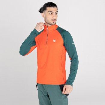 Męska bluza termoaktywna Dare2B Interfused II pomarańczowa