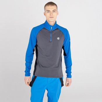 Męska bluza termoaktywna Dare2B Interfused II szara-niebieska