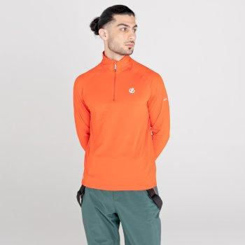 Męska bluza termoaktywna Dare2B Fuse Up II pomarańczowa