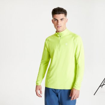 Dare 2b - Men's Fuse Up II Half Zip Lightweight Core Stretch Midlayer Lime Punch