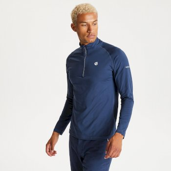 Dare 2b - Men's Fuse Up II Half Zip Lightweight Core Stretch Midlayer Nightfall Navy