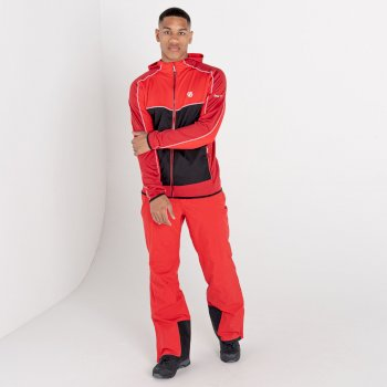Men's Revived Hooded Core Stretch Midlayer Chinese Red Black Chillie Pepper Red