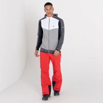 Men's Revived Hooded Core Stretch Midlayer Ash Grey Marl White