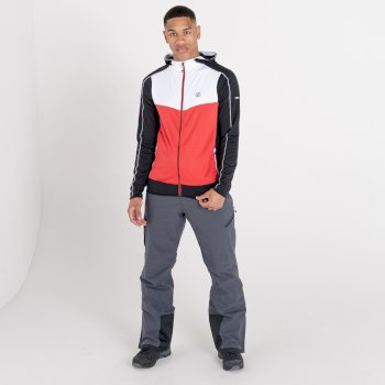 Men's Revived Hooded Core Stretch Midlayer White Chinese Red