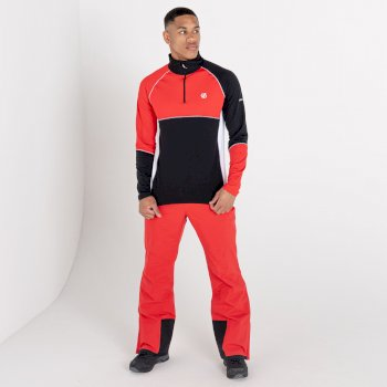 Men's Dignify Lightweight Core Stretch Midlayer Chinese Red Black
