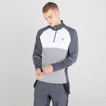 Men's Dignify Lightweight Core Stretch Midlayer White Ash Grey Marl