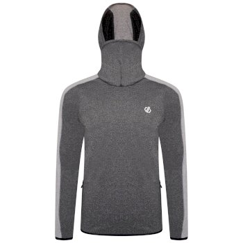 Dare 2b - Men's Guard Up Hooded Core Stretch Midlayer  Charcoal Grey Ash Grey