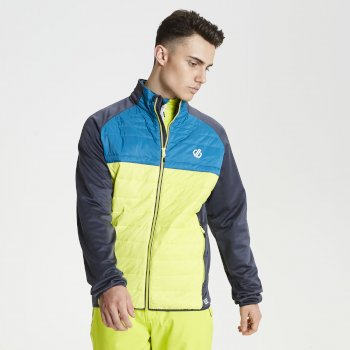 Dare 2b - Men's Coordinate Wool Hybrid Baffled Jacket Lime Aluminium Grey