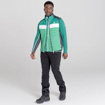 Dare 2b - Men's Mountaineer Wool Quilted Bodywarmer Jelly Bean Green Ultramarine Green