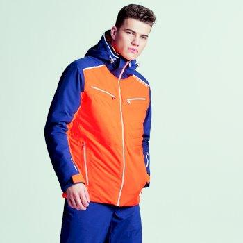 Męska kurtka narciarska Dare2b Mutate Pro Pomarańczowa z granatowymi rękawami