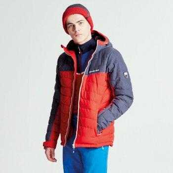 Męska kurtka narciarska Dare2b Slalom Czerwona z granatowymi rękawami