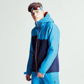 Męska kurtka narciarska Dare2b Declarate Granatowa z niebieskimi rękawami