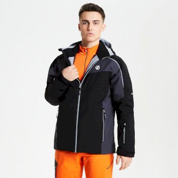 Dare 2b - Men's Intermit Ski Jacket Black Ebony Grey