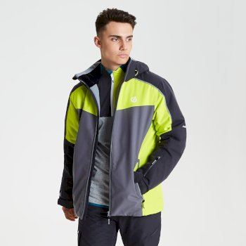 Dare 2b - Men's Intermit Ski Jacket Ebony Citron Lime