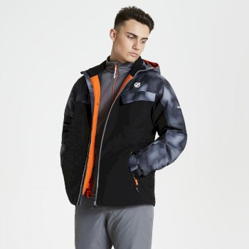 Dare 2b - Men's Anomaly Printed Ski Jacket Black Digital Print