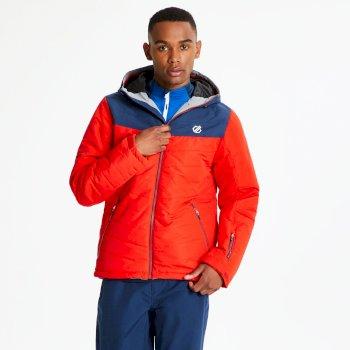 Męska czerwono-niebieska kurtka narciarska Domain