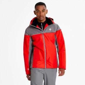 Dare 2b - Men's Cohere Ski Jacket Fiery Red Aluminium Grey
