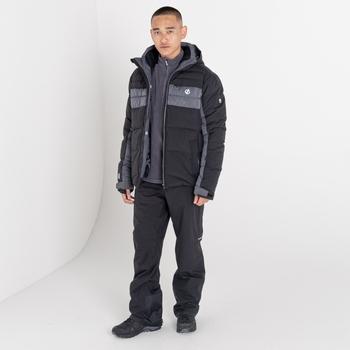 Męska kurtka narciarska Dare2B Denote czarna - pomarańczowa