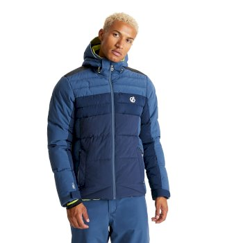 Dare 2b - Men's Denote Waterproof Insulated Hooded Ski Jacket Dark Denim Nightfall Navy