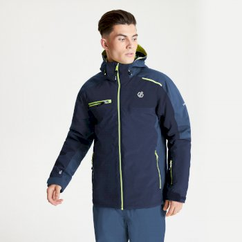 Dare 2b - Men's Intermit II Waterproof Insulated Hooded Ski Jacket Nightfall Navy Dark Denim
