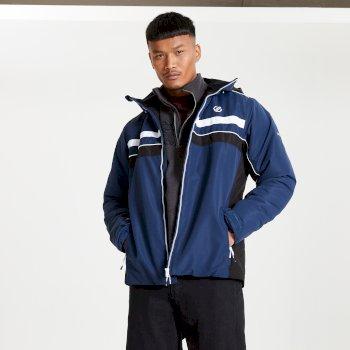 Dare 2b - Men's Vindicator Waterproof Insulated Hooded Ski Jacket Nightfall Navy Black