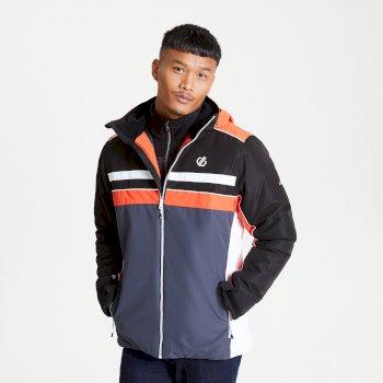 Męska kurtka narciarska Dare2B Vindicator czarna - pomarańczowa