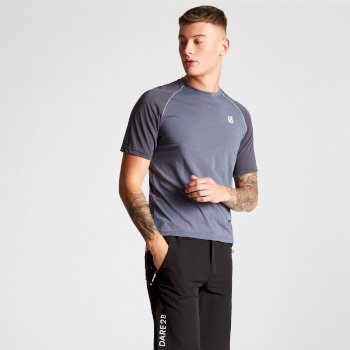 Men's Institute Wool T-Shirt Meteor Quarry Grey