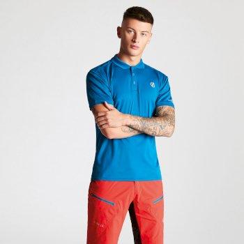 Men's Delineate Lightweight Polo Shirt Petrol Blue