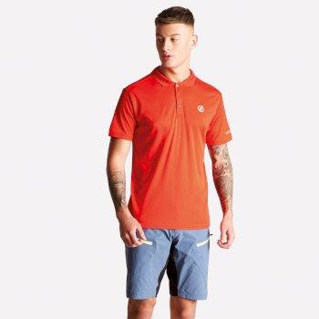 Men's Delineate Lightweight Polo Shirt Fiery Red