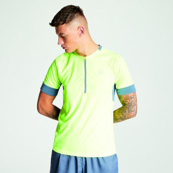 Men's Equall Cycle Jersey Fluro Yellow