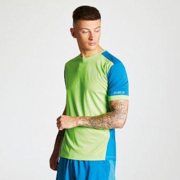 Dare 2b - Men's Unifier Lightweight Ventilated T-Shirt Jasmine Green Petrol Blue