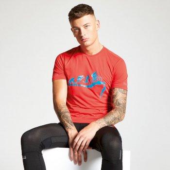 Czerwony t-shirt męski Dare2b Righteous