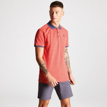 Men's Deference Polo Shirt Fiery Red