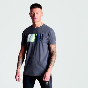 Szary męski t-shirt z nadrukiem Dynamism