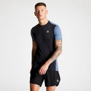 Men's Underlie Active T-Shirt Black Meteor Grey